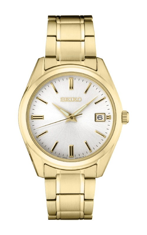 Seiko Essentials Men's Gold Tone Watch SUR314 product image