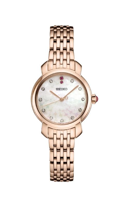 Seiko Ladies Diamonds Rose Tone Watch SUR624 product image