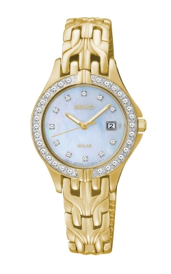 Seiko Essentials Ladies Crystal Solar Watch SUT086 product image