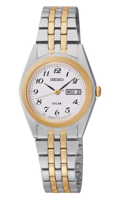 Seiko Essentials Ladies Solar Two-Tone Watch SUT116 product image