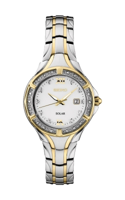 Seiko Ladies Two Tone Diamonds Solar Watch SUT372 product image