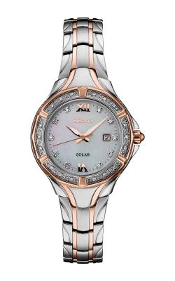 Seiko Ladies Two Tone Diamonds Solar Watch SUT374 product image