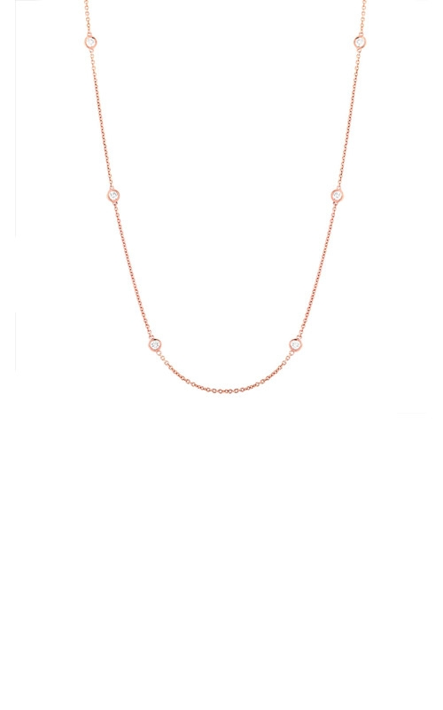Shy Creation 14k Rose Gold .28ctw Diamond Chain Necklace SC22003839 product image