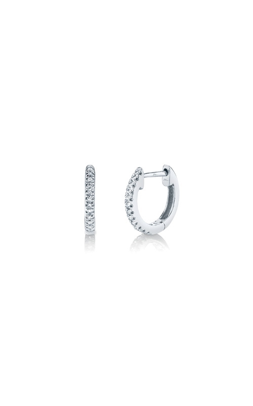 Shy Creation 14k White Gold .07ctw Diamond Huggie Earrings SC22003982 product image