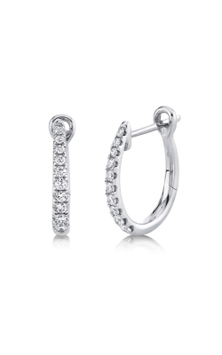 Shy Creation 14k White Gold .25ctw Diamond Hoop Earrings SC22005487 product image