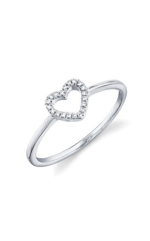 Shy Creation 14k White Gold .04ctw Diamond Heart Ring SC22005658 product image