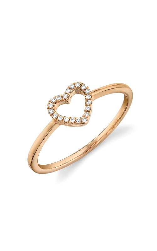 Shy Creation 14k Rose Gold .04ctw Diamond Heart Ring SC22005660 product image