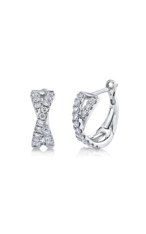 Shy Creation 14k White Gold .40ctw Diamond Huggie Earrings SC22007274 product image