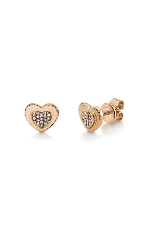 Shy Creation 14k Rose Gold .06ctw Diamond Heart SC22007557 product image