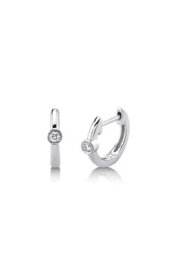 Shy Creation 14k White Gold .06ctw Diamond Huggie Earrings SC22007665 product image