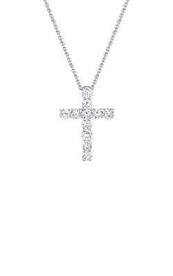 Shy Creation 14k White Gold .32ctw Diamond Cross Necklace SC37215657 product image