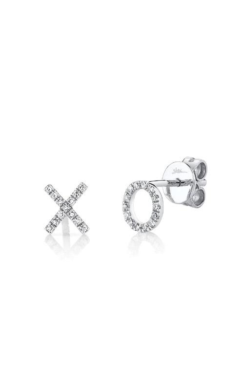 Shy Creation 14k White Gold .09ctw Diamond XO Stud Earrings SC55001319 product image