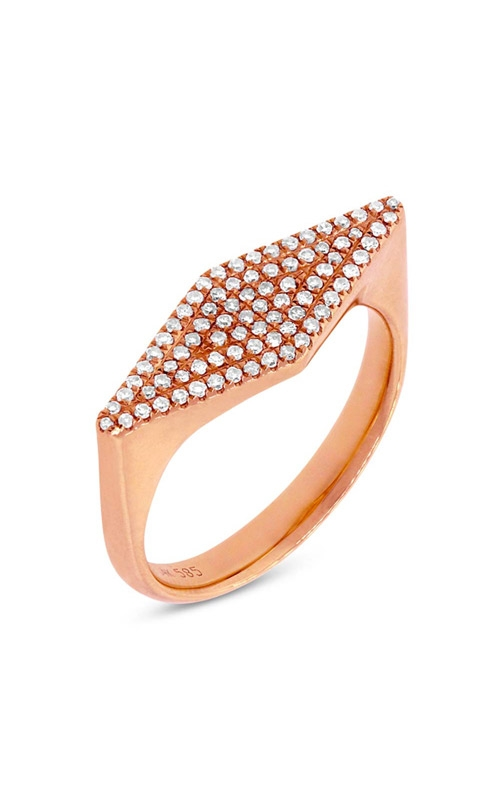 Shy Creation 14k Rose Gold 0.25ct Diamond Pave Lady's Ring SC55001363 product image