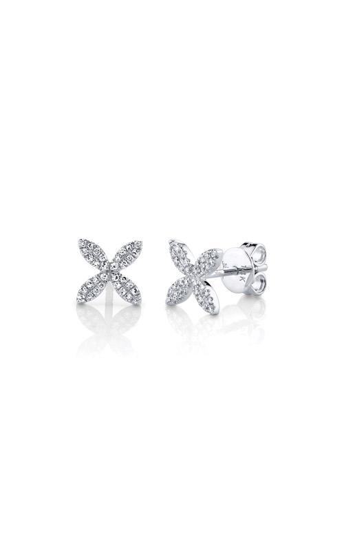 Shy Creation 14k White Gold .16ctw Flower Stud Earrings SC55002161 product image