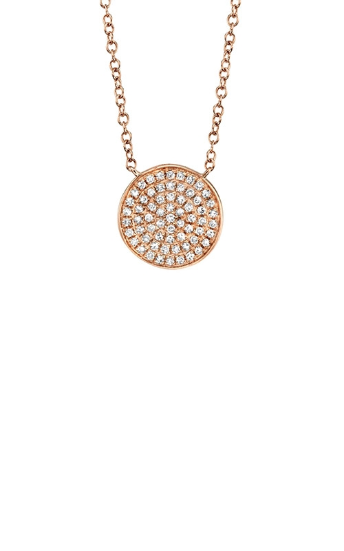 Shy Creation 14k Rose Gold 1/7ctw Diamond Disc Necklace SC55002400 product image