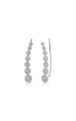 Shy Creation 14k White Gold .25ctw Diamond Climber Earrings SC55002407 product image