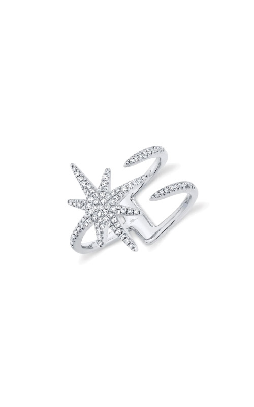 Shy Creation 14k White Gold .26ctw Star Ring SC55002413 product image