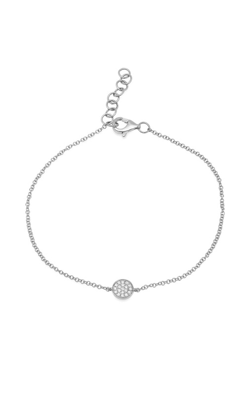 Shy Creation 14k White Gold 0.05ct Diamond Pave Circle Bracelet SC55002641 product image