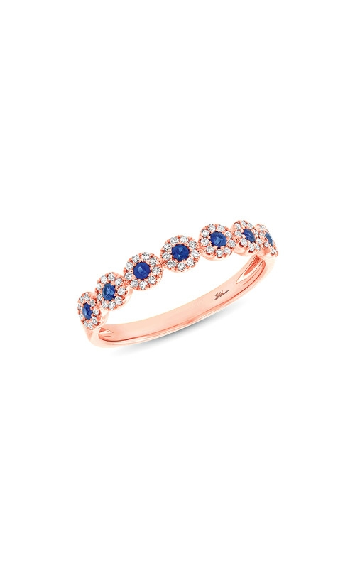 Shy Creation 14k Rose Gold .16ctw Diamond Sapphire Band SC55002663 product image