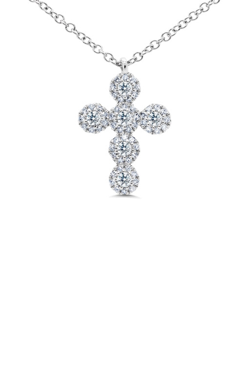 Shy Creation 14k White Gold 0.25ct Diamond Cross Necklace SC55002817 product image