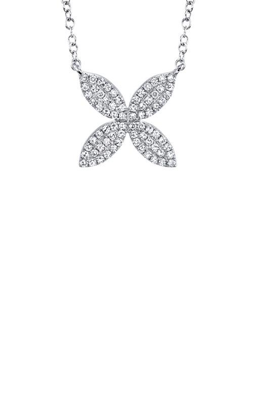 Shy Creation 14k White Gold .20ctw Diamond Flower Necklace SC55002921 product image