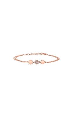 Shy Creation 14k Rose Gold .05ctw Diamond Disc Bracelet SC55003023 product image