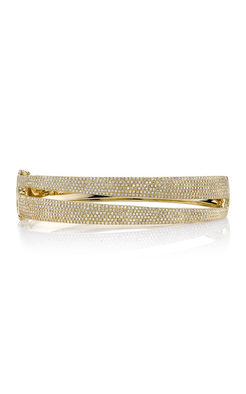 Shy Creation 14k Yellow Gold 1.96ct Diamond Pave Bangle SC55004522ZS product image