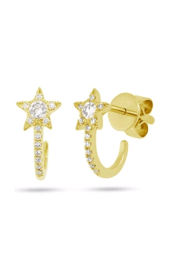 Shy Creation 14k Yellow Gold 0.17ctw Star Hook Earrings SC55004609 product image