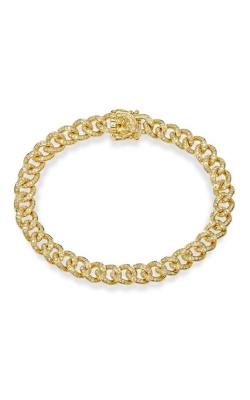 Shy Creation 14k Yellow Gold 1.05ctw Pave Curb Bracelet SC55004679 product image