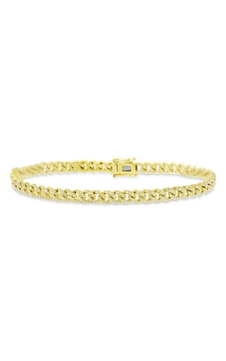 Shy Creation 14k Yellow Gold .96ctw Diamond Pave Chain Bracelet SC55004830 product image