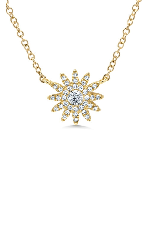 Shy Creation 14k Yellow Gold 0.15ct Diamond Necklace SC55004912 product image