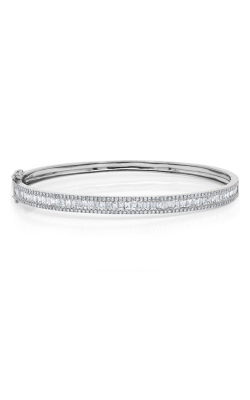 Shy Creation 14k White Gold 1.74ct Diamond Baguette Bangle product image