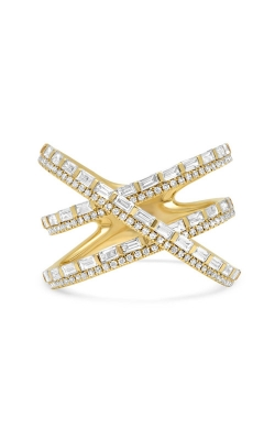 Shy Creation 14k Yellow Gold 1.08ct Diamond Baguette Bridge Ring SC55005757 product image