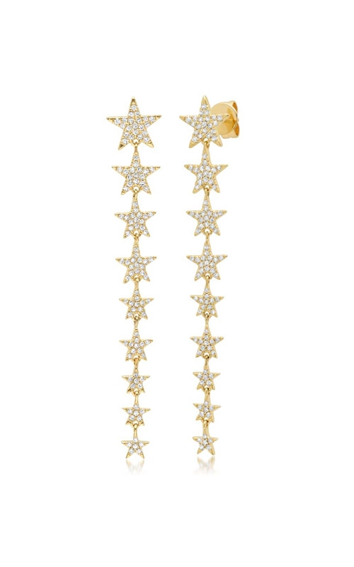 Shy Creation 14k Yellow Gold 0.51ct Diamond Star Earring SC55006113 product image
