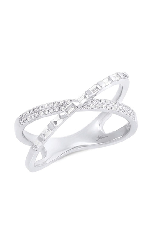 Shy Creation 0.33ct 14k White Gold Diamond Baguette Bridge Ring SC55006218 product image