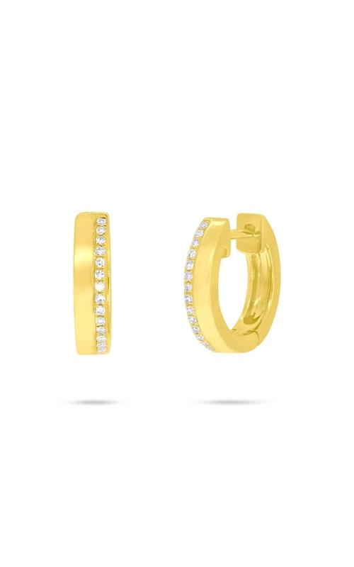 Shy Creation 14k Yellow Gold 0.08ctw Diamond Huggie Earrings SC55006225 product image