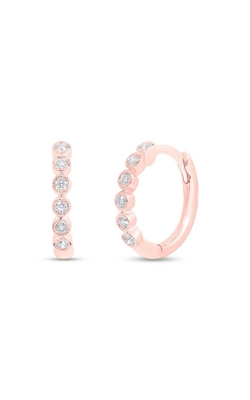 Shy Creation 14k Rose Gold 0.11ct Diamond Huggie Earring SC55006357 product image