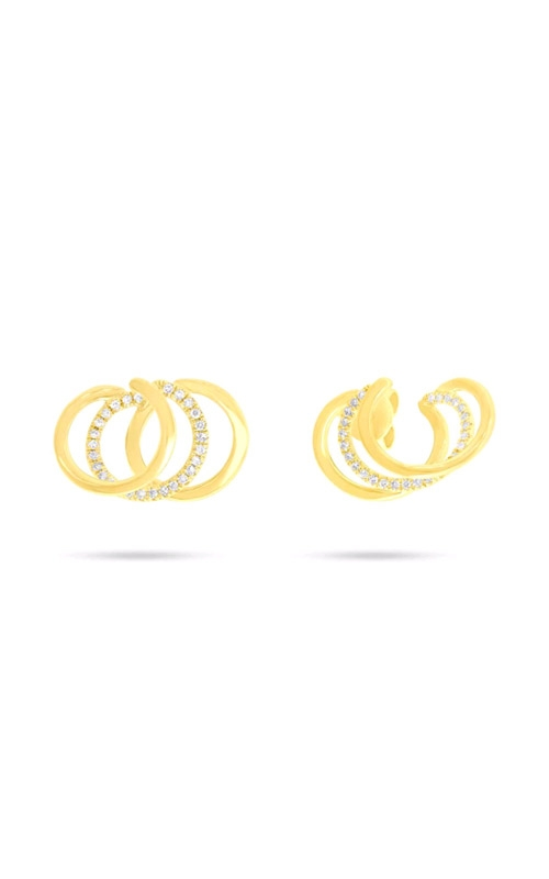 Shy Creation 14k Yellow Gold 0.15ctw Triple Circle Earrings SC55006712 product image