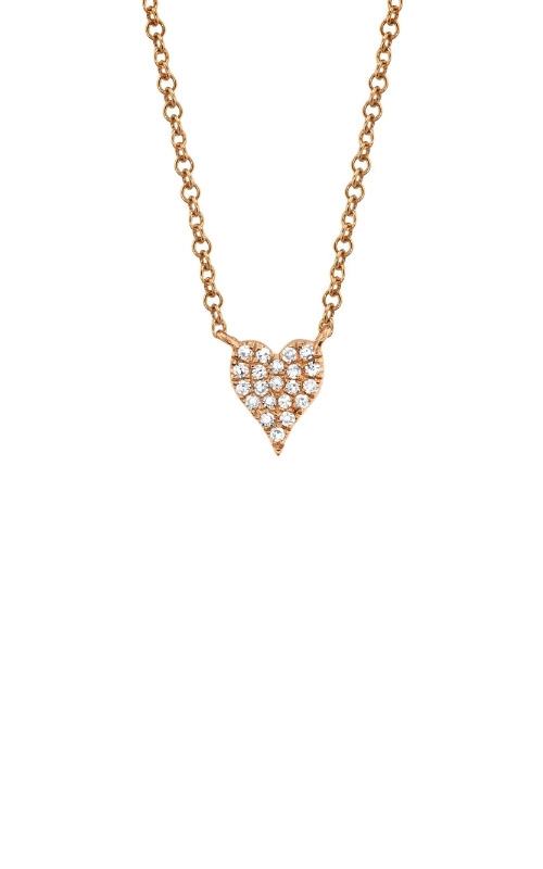 Shy Creation 14k Rose Gold .05ctw Diamond Heart Necklace SC55006734 product image