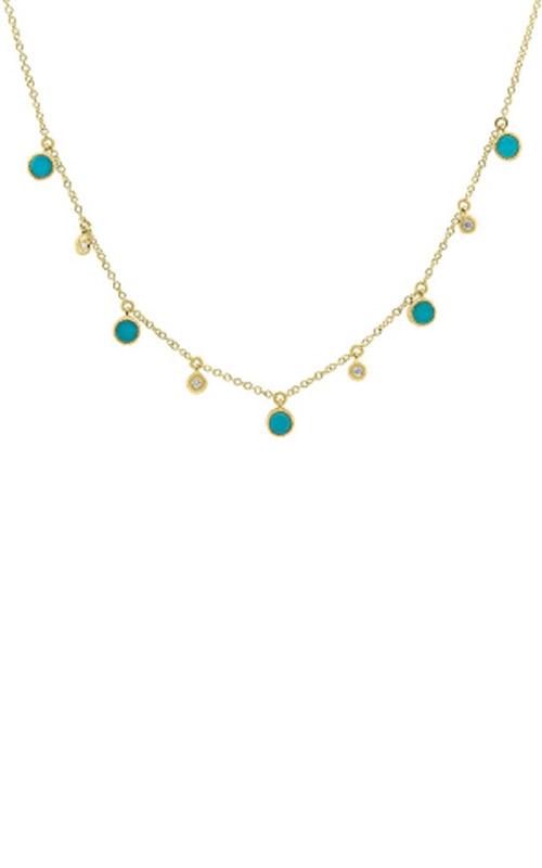 Shy Creation 14k Yellow Gold 0.04ct Diamond & 0.75ct Turquoise SC55006890 product image