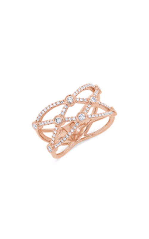 Shy Creation 14k Rose Gold 0.42ctw Crossover Bezel Ring SC55007618 product image
