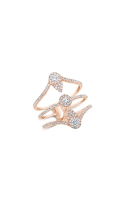 Shy Creation 14k Rose Gold 0.57ctw Brilliant Diamond Ring SC55007767 product image