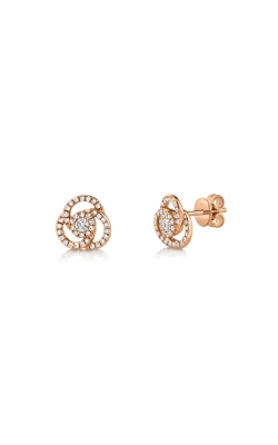 Shy Creation 14k Rose Gold .32ctw Knot Earrings SC55008026 product image