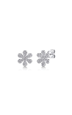 Shy Creation 14k White Gold .29ctw Diamond Flower Stud Earrings SC55008173 product image