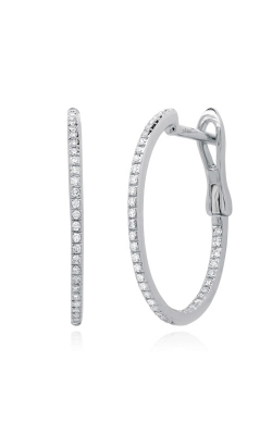 Shy Creation 14k White Gold 0.21ctw Brilliant Diamond Hoop Earrings SC55008414 product image