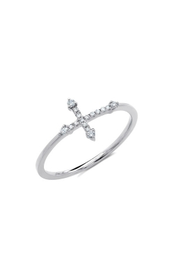 Shy Creation 14k White Gold Diamond Cross Ring SC55008654 product image