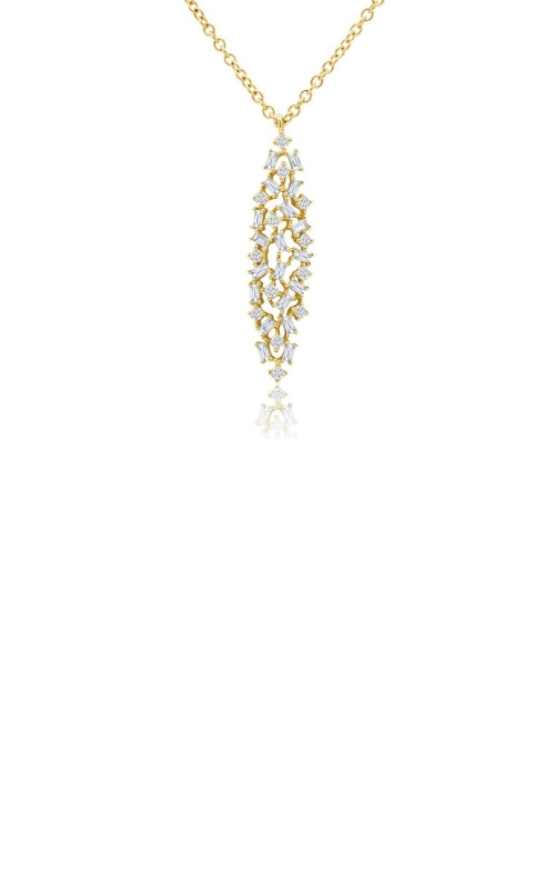 Shy Creation 14k Yellow Gold .54ctw Mosaic Necklace SC55008706 product image