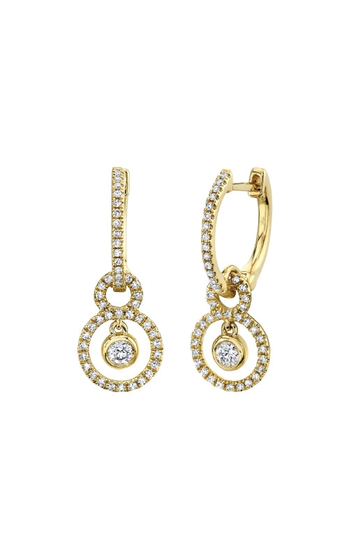 Shy Creation 14k Yellow Gold .34ctw Diamond Drop Earrings SC55009194 product image