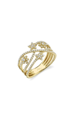 Shy Creation 14k Yellow Gold .39ctw Diamond Star Ring SC55009257 product image