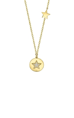 Shy Creation 14k 0.03ctw Star Disc Pendant SC55009395 product image